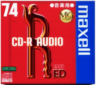 010-195 / MAXELL Audio CD-R Disc WriteOnce 74min SLIM (CDRA74RE.1TP) NEU