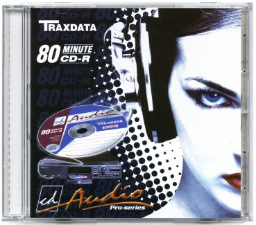 010-247 / TRAXDATA Audio CD-R Disc WriteOnce 80min 700MB JEWEL (CDA80JC) NEU