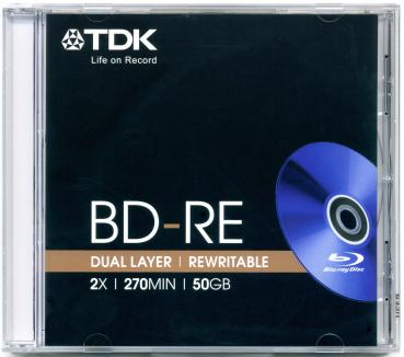 010-278 / TDK BD-RE DL BluRay Disc 50GB DoubleLayer 1x2x (BD-RE50JC2) NEU