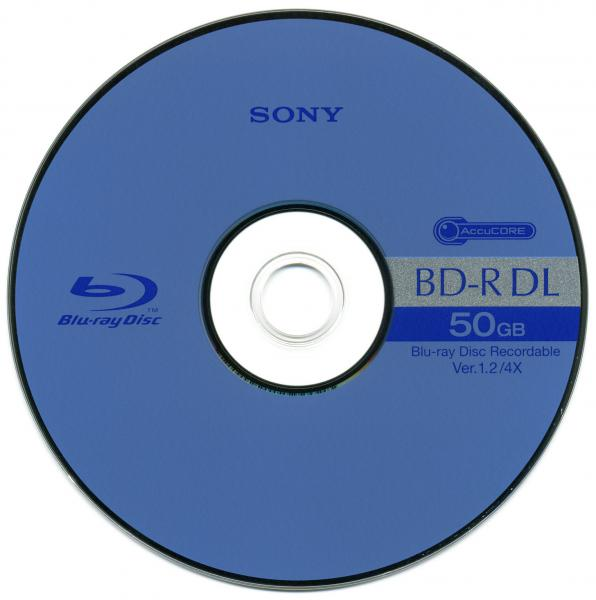003-442 / SONY BD-R DL Blu-Ray Disc 50GB 1x4x JEWEL CASE (BNR50BS4) NEU