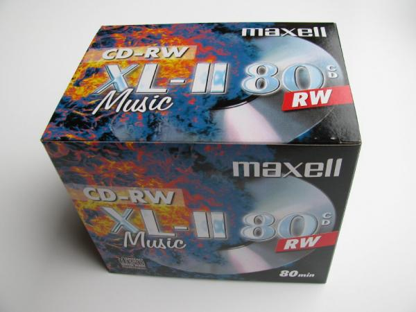 003-749 / 1x10 MAXELL XL-II 80 Audio CD-RW Rewritable JEWEL Case (624865) NEU
