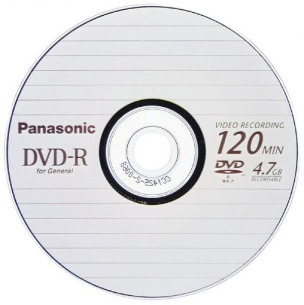 "005-981 / PANASONIC DVD-R Disc ""For General"" 4.7GB Jewel Case (LM-RF120E) NEU"