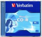 "004-350 / VERBATIM CD-R 80Min 700MB AudioColor ""Live it"" JEWEL (43364) NEU"