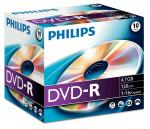 005-965 / 1x10 PHILIPS DVD-R Rohlinge WriteOnce 4.7GB 16x JEWEL (DM4S6J10C/00) NEU