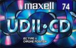 009-667 / MAXELL 74min Type-II CHROME Position Audio Cassette Tape (UDII-CD74) OVP NEU
